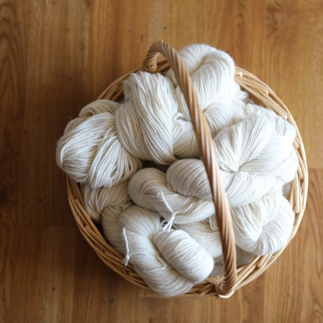Commercial Spun 8 ply Alpaca Yarn - 200g Natural image