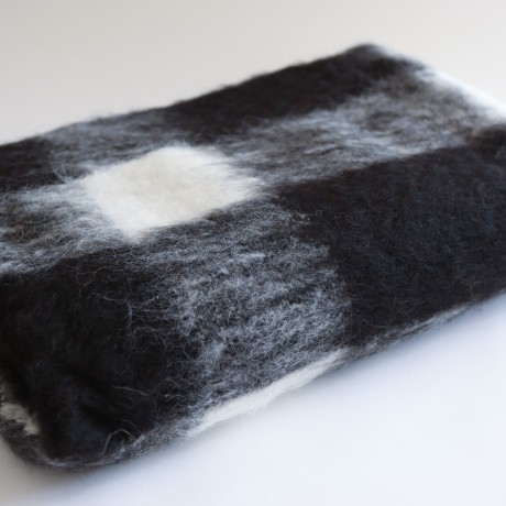 Black & White, Woven & Brushed Alpaca Throw image