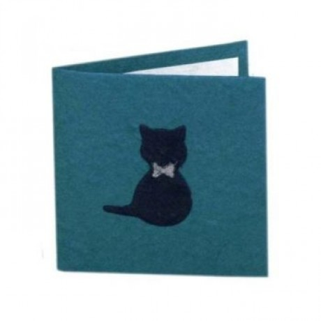 Blue Gift Card with Cat Design image