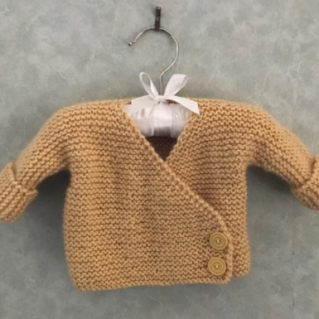 Alpaca Cross Over Cardigan - Butter Yellow image