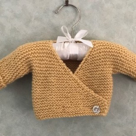 Alpaca Cross-over Cardigan - Butter Yellow image