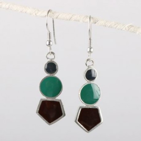 Enamel Bead Earrings image