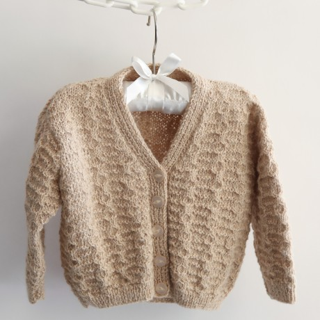 Cable detail Fawn Cardigan  image