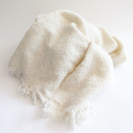 Natural Woven Alpaca Throw image