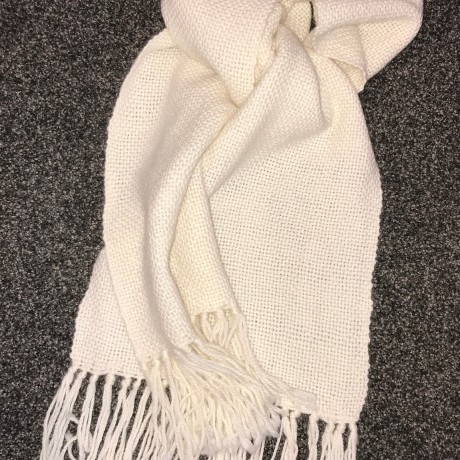 Woven 100% Alpaca Scarf - Natural image