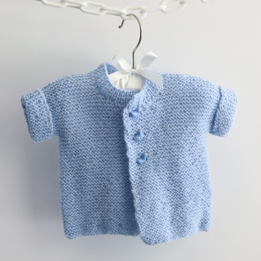 Short Sleeve Blue Cardigan image