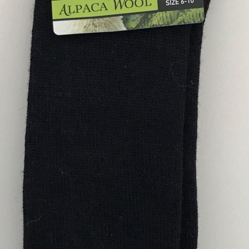 New Zealand Alpaca Socks - Black image