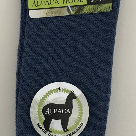 New Zealand Alpaca Socks - Denim Blue image