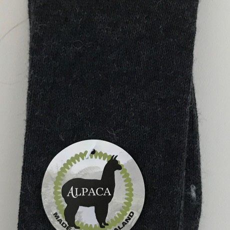 New Zealand Alpaca Socks - Charcoal Grey image