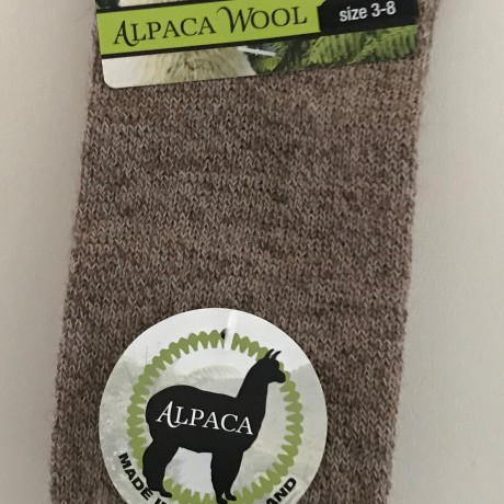 New Zealand Alpaca Socks - Fawn image