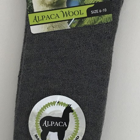 New Zealand Alpaca Socks - Grey/Brown image