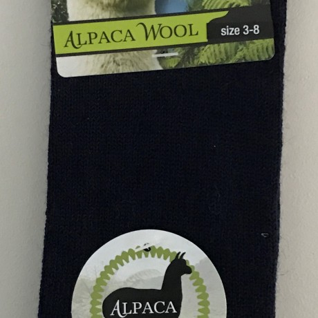 New Zealand Alpaca Socks - Navy image