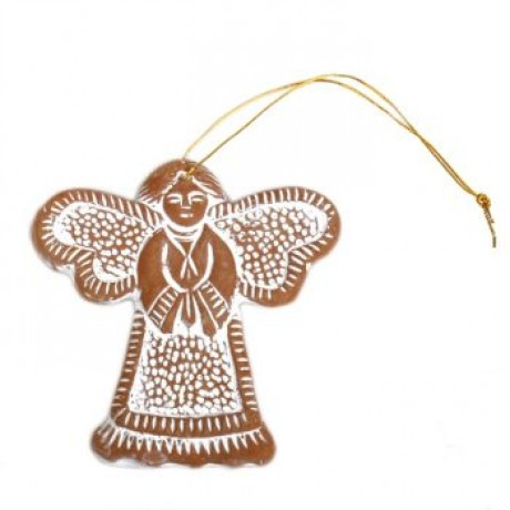 Whitewash Clay Christmas Angel image